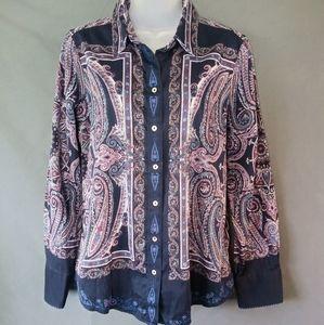 Robert Graham paisley/floral shirt medium